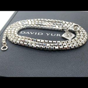 David Yurman 925 3.6mm 24 Inches Long Box Chain
